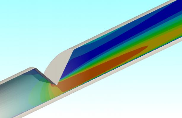 CFD of Wedge Flow Meter